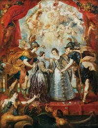 圣光下的女人宫廷油画装饰画