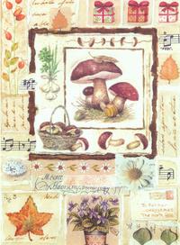 卡通蘑菇装饰画素材