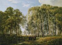 春日树林风景装饰画