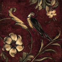 复古花鸟装饰画素材