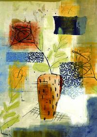 抽象装饰花瓶装饰画