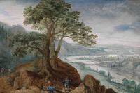 树下休息的人风景装饰画