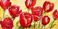 红色玫瑰花装饰画素材