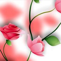 手绘粉色玫瑰客厅装饰画2