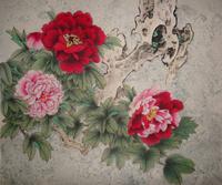 牡丹花工笔装饰画