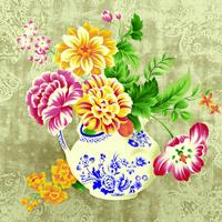 东方花瓶装饰画
