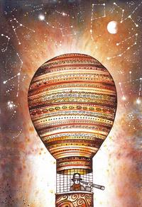 升起的热气球装饰画