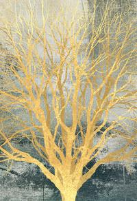 金色发财树装饰画