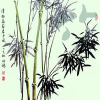 梅兰竹菊装饰画2