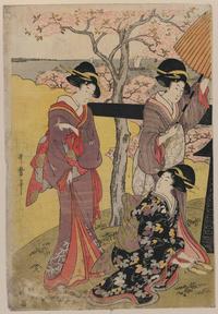 树下女人浮世绘装饰画