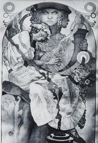 弹琴的女子装饰画