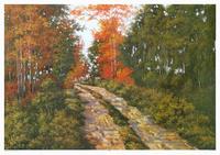 风景树林油画装饰画