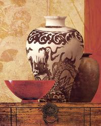 中式花瓶装饰画1