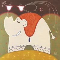 抽象卡通大象装饰画