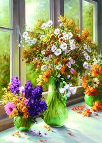 窗台上的花瓶装饰画1