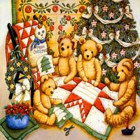 精美卡通小熊装饰画