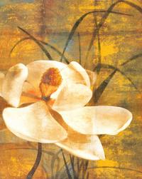 简约复古白花客厅装饰画1