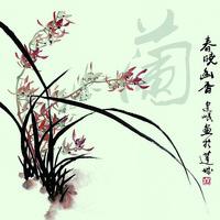 梅兰竹菊装饰画1