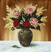 古典装饰花瓶装饰画