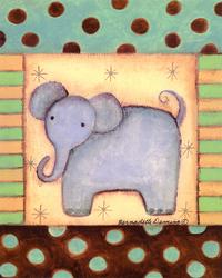 卡通可爱大象装饰画