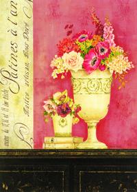 柜子上的复古花瓶装饰画1